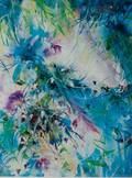 Framed Abstract Floral Print