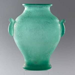 Scavo glasslarge urn late 20th cunmarked14 14 x 12 dia
