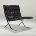 Nico zographoslounge chair usa 1960sleather and stainless steelunmarked30 x 30 x 30