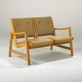 Jens risomknoll associatestwoseat sofa usa 1950sbirch and upholsteryunmarked29 12 x 49 12 x 28