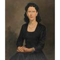 Portraits of womentwo oils on canvas paintings framedboth illegibly signedone illegibly dated one 1950larger 38 x 26 18