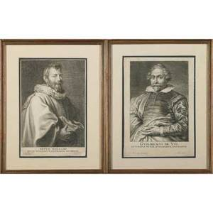 Old master prints18th  19th cnine mainly portraits all framed10 58 x 8 sight