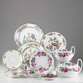 English and european porcelainsixtyeight pieces 20th c including eleven winkle and company pheasant pattern 9 34 plates nineteen pieces epiag bouillon cups and saucers etctallest 5 12