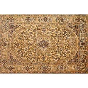 Persian nainwool and silk area rug 20th clabeled80 x 120