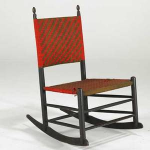 Mt lebanon shaker rockertapered seat and back 20th c35 x 22 x 17 34