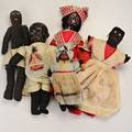 Doll groupsix dolls three cloth two composition and one miniature 20th cunmarkedtallest 18