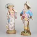 German bisque figuresboy and girl in classical dressboth markedtaller 25
