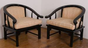 American of Martinsville Horseshoe Back Chair Pair