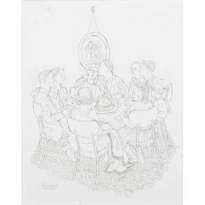 Bernarda bryson shahn american 19032003seven pen and ink illustrations framedeach signedlargest 9 x 9
