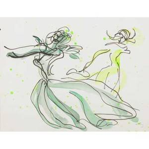Emlen etting american 19051993two watercolor on paper brigitte unsigneduntitled signed both framedlarger 10 14 x 13 sight