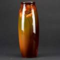 Frank ferrellwellertall louwelsa vase with poppies drilled as lamp baseimpressed weller mark artists cypher12 34 x 4 12 dia