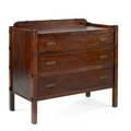 Arts  craftscome pakt chest of drawers and hall mirroroak copper brass and mirrored glasschest 35 x 39 x 19 12 mirror 40 x 32