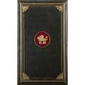 Cosway style bound volume first edition of the posthumous pickwick papers by charles dickens in cosway style binding of fine tooled gilt leather binding and inset portrait miniature on ivory of aut