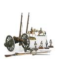 Napoleonic miniatures fortynine items include swords longarms cannons and painted figures of cotemporary soldiers 20th c thirteen shown largest 5 12 x 7 x 12