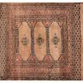 Oriental area rugs three 20th c one runner and two area rugs all with floral or geometric design on various grounds runner 32 x 117