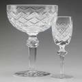 Waterford crystal twelve champagnes and twelve cordials in the powers court pattern 20th c two shown signed champagne 5 12