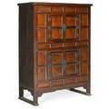 Korean chest mixed hardwoods with paneled door fronts 19th c 57 12 x 43 12 x 19 14