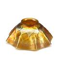 Tiffany studios gold favrile glass ruffled shade ca 1910 etched lct 3 12 x 7 12