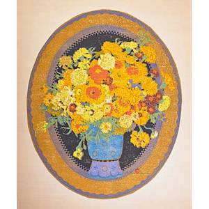 Gustave baumann american 18811971 color woodblock print marigolds santa fe nm 191519 framed and matted chop mark and artists signature image 21 34 x 17 34 note there was a plann
