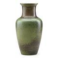 Charles f binns fine early stoneware baluster vase with green and brown speckled glaze alfred ny 1908 incised cfb 08 8 12 x 4 12 exhibition the stonewares of charles fergus binns the fat