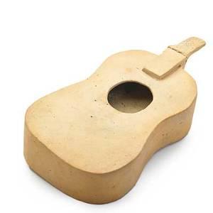 George ohr bisque partial guitar novelty biloxi ms 188892 script signature biloxi pottery ge ohr 1 14 x 6 published ellison george ohr art potter pl 42