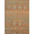 Peshawar ikat contemporary roomsize rug in pastel tones unmarked 9 2 x 12 6