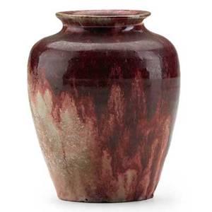 Frederick h rhead rhead santa barbara rare cabinet vase in oxblood flambe glaze santa barbara ca ca 1914 stamped rhead pottery santa barbara 3 x 2 12