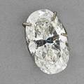 Unmounted 144 cts oval faceted diamond 944 x 570 x 378 mm