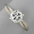 Diamond sixprong engagement ring 14k wg ca 1965 diamond 660 x 665 mm approx 105 cts 16 dwt 25 gs size 7 12