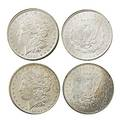 Carson city silver dollars two unc from comstock lode 1882 and 1884 in original slabs missing boxes and certificates