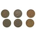 Flying eagle and indian head 1c fiftynine coin business strike set