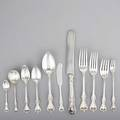 Towle old colonial silver flatware service partial service for twelve with extras forks 7 12 16 forks 7 11 cakesalad forks 6 12 appetizer forks 6 18 oval soup spoons 7 14
