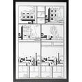 Chris ware american b 1967 jimmy corrigan 1999 ink on board framed 23 78 x 15 sheet provenance private collection new york
