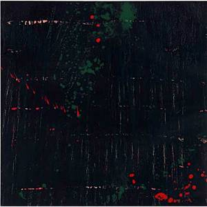 Pat steir american b 1938 composition in dark 1998 lithograph in colors framed signed and numbered 535 28 x 28 sheet provenance private collection new york