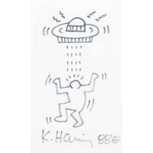 Keith haring american 19581990 untitled 1988 marker on index card signed and dated 5 x 3 sheet provenance private collection