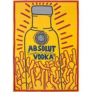 Keith haring american 19581990 absolut haring 1986 lithograph in colors signed and dated from an edition of 100 45 14 x 33 sheet provenance private collection san francisco