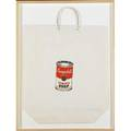 Andy warhol american 19281987 campbells soup can tomato 1964 screenprint in colors on paper shopping bag framed signed and dated 19 12 x 17 publisher bianchini gallery new york li