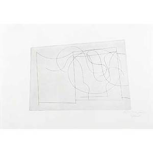 Ben nicholson british 18941982 untitled 1962 etching framed signed dated and numbered 50 8 14 x 11 14 plate irregular 12 34 x 17 12 sheet provenance private collection phi