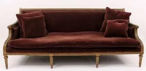 Louis XVI Style Upholstered Sofa