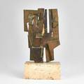 Pietro consagra italian 19202005 untitled ca 1960 bronze on travertine base 7 18 high 9 14 high with base provenance the artist collection of lydia winston malbin acquired 1960s