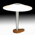 Richard kelly 19101977 kelly  thompson table lamp usa ca 1940 aluminum steel cherry paper unmarked overall 15 34 x 15 dia note a similar example is in the collection of the muse