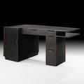 Edward wormley dunbar desk usa 1940s lacquered mahogany brass label 29 12 x 60 x 32
