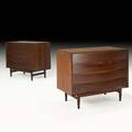 Arne vodder sibast mobler pair of fourdrawer rosewood dressers denmark 1960s manufacturers and retailers labels 31 34 x 39 14 x 19 12
