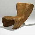 Marc newson idee wicker chair australia 2000s wicker aluminum unmarked 29 x 26 x 34