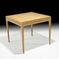 Tommi parzinger parzinger originals card table usa 1950s bleached mahogany rosewood unmarked 28 12 x 32 sq