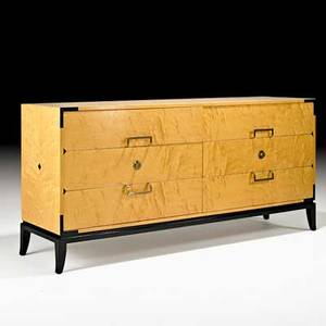 Tommi parzinger parzinger originals cabinet new york 1950s maple lacquered wood brass branded 33 x 70 x 19