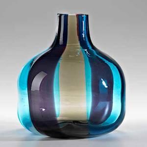 Fulvio bianconi 19151996 venini spicchi glass vase murano italy ca 1965 engraved venini italia 7 12 x 7 x 6 12