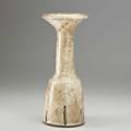 Lucie rie tall glazed stoneware bottleform vase with flared rim london 1970s artist cipher 12 x 5