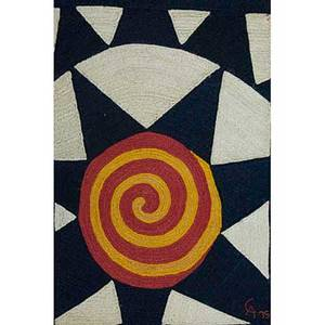 After alexander calder 18981976 bon art jute fiber tapestry prototype star nicaragua 1975 embroidered ca 75 cloth tag 84 x 56