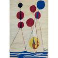 After alexander calder 18981976 bon art jute fiber tapestry balloons nicaragua 1974 embroidered ca 74 cloth tag 84 x 56
